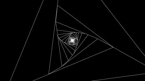 3 D triangle b white CG動画