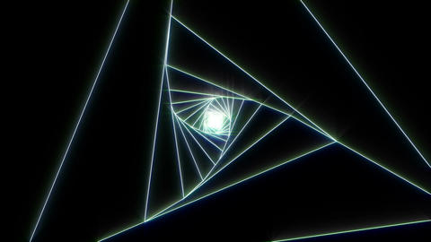 3 D triangle b white 2 CG動画