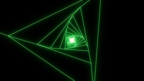 [alt video] 3 D triangle b green