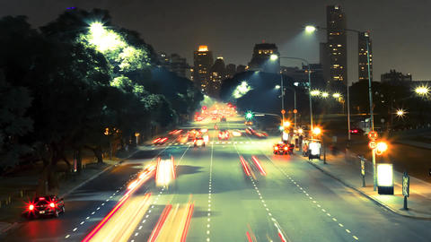 Time-lapse of Rush Hour in Buenos Aires Footage
