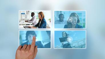 Digital Touch Portfolio stock footage