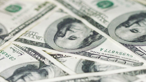 Rotating Money In Large Denominations. United Stat stock footage