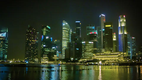 SINGAPORE - JAN 01 2014: Skyscrapers in central ar Footage