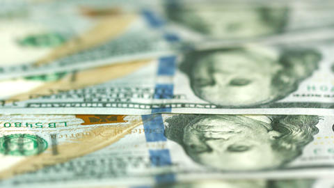 Dollars in large bills closeup. U.S. money Footage