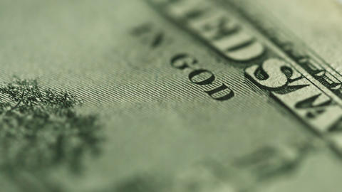 Dollar close up. Motto on money - in god we trust Footage