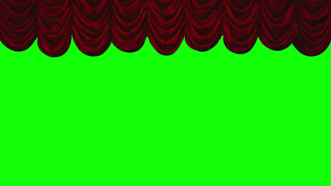 4k Red Austrian Stage Curtain go UP and DOWN Animation