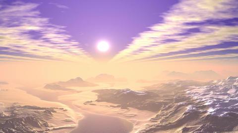 Sunrise from the fog Animation