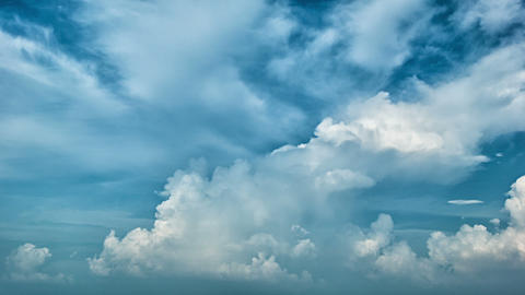 Picturesque sky with clouds. Timelapse Footage