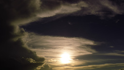 4 K Storm Skies Clear Sunset 2 stock footage
