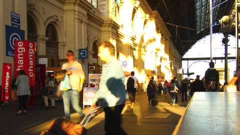 Interior Of The Famous Keleti Palyaudvar Train Sta stock footage