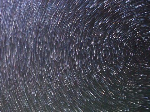 Stars around the pole star. TimeLapse. 640x480 Live Action