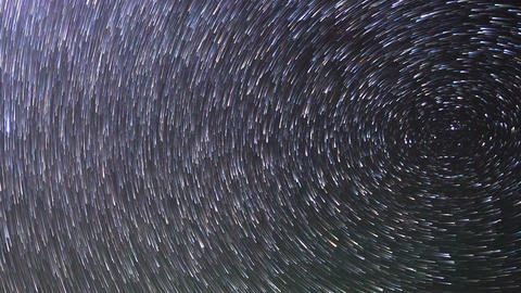 Stars Around The Pole Star. TimeLapse. 1280x720 stock footage