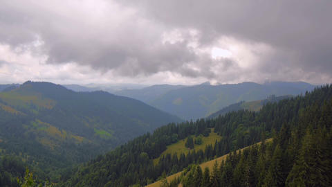Movement Of Clouds In Mountains (Timelapse) stock footage
