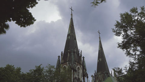 Ukraine, L'viv city .Church Timelapse Footage