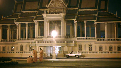 PHNOM PENH. CAMBODIA - 29 DEC 2013: Buddhist monks Footage
