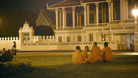 PHNOM PENH. CAMBODIA - 29 DEC 2013: Group of Buddh Footage