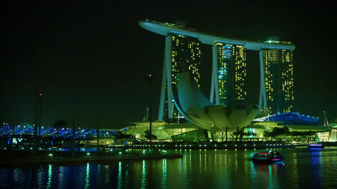 SINGAPORE - CIRCA JAN 2014: Evening view of the Ma Footage