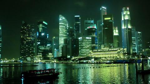 SINGAPORE - CIRCA JAN 2014: Pleasure boats near th Footage