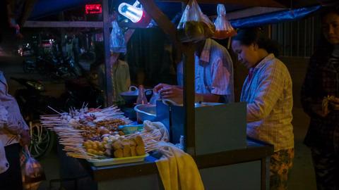 BAGAN. MYANMAR - 11 JAN 2014: Coomon Asian Street stock footage