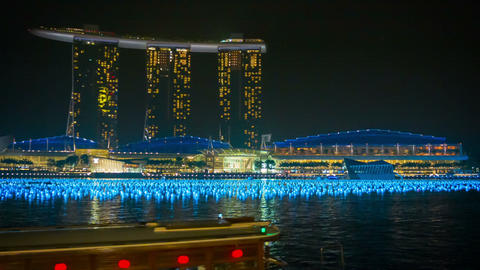 SINGAPORE - CIRCA DEC 2013: Hotel Marina Bay Sands stock footage