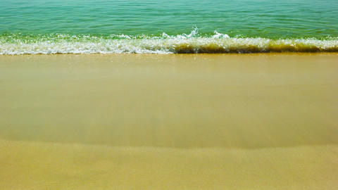 The calm water of the warm sea and yellow sand Footage