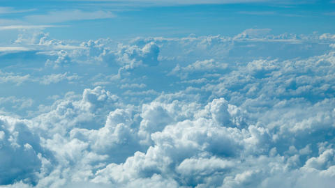 Cumulus clouds. Top view from the aircraft Footage