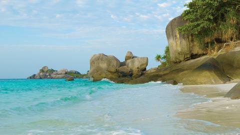 Sea beach and rocks. Thailand. Similan Footage