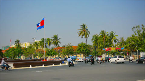 PHNOM PENH. CAMBODIA - 29 DEC 2013: Transport Ring stock footage