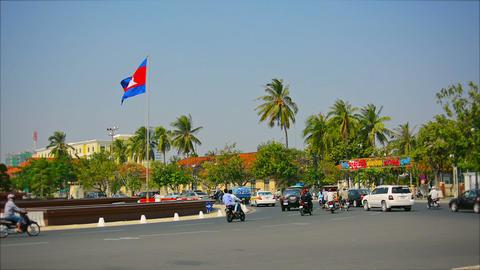 PHNOM PENH. CAMBODIA - 29 DEC 2013: Transport ring Footage