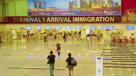 SINGAPORE - CIRCA DEC 2013: Tourists in Singapore Footage