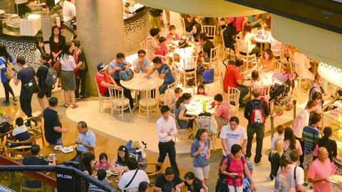 SINGAPORE - CIRCA DEC 2013: Indoor catering in lar Footage
