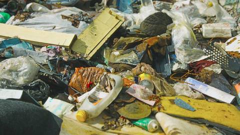 Dump Household Garbage. The Scum Closeup stock footage