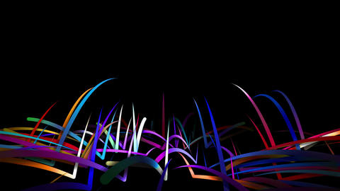 Rainbow Stripes Line Bounce 3D - 4K Resolution Ult Animation