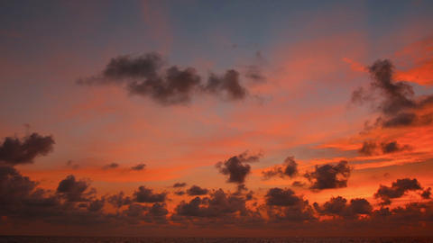 Panorama of a bright sky during sunset over tropic Footage