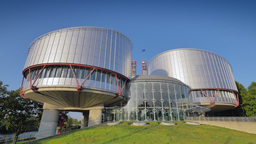 4K European Court of Human Rights in Strasbourg Footage