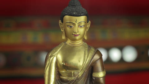 Golden Budha stock footage
