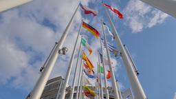 4K European Parliament in Strasbourg Footage