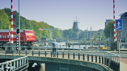 4K street traffic and urban Amsterdam scenery Footage