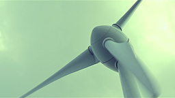 4K Close up on wind power turbine rotating Footage