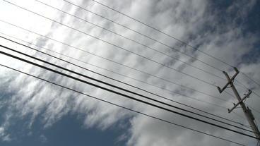Clouds Pole stock footage