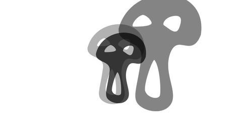 Pulsing Haunted Black Halloween Mask Animation