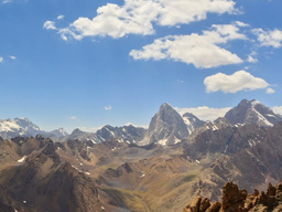 Clouds over the peaks. Time Lapse. Pamir, Tajikist Footage