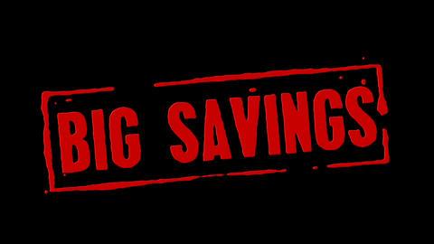 Big Savings Red Stamp Transition Animation