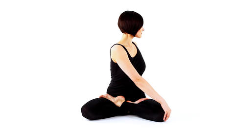 young beauty woman prepare for yoga training Stock Video Footage