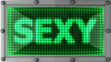 Announcement On The LED Display stock footage