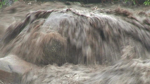 Malawi: flooded river after tropical rain storm 3 Stock Video Footage