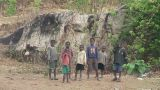 Malawi: African Children Watching stock footage
