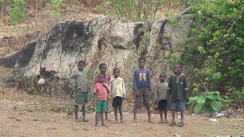 Malawi: african children watching Footage