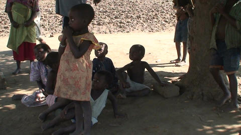 Malawi: african children in a willage Stock Video Footage