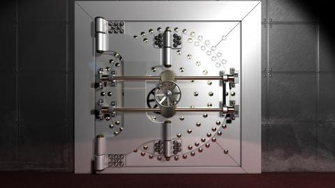 SAFE DOOR Stock Video Footage